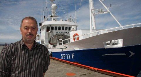 Rune Nilsen er aktiv både som fiskar og som fiskeripolitisk debattant. Han kjempar for å halde på fritt fiske etter sei på Mørekysten på vinteren.