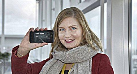 Alice Bergfall er rådgiver innen kommunikasjon og samfunnsansvar i Shell, og har vært med å utvikle spillet Pipe Rider. - Jeg var jo helt rå på dette spillet da vi holdt på å utvikle appen i 2012, sier Bergfall.