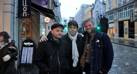 William Hut, Calle Hamre og Viggo Krüger var mye på Apollon og Garage på 1990-tallet. Nå har de slått sine pjalter sammen med Piddi Fjeldstad for en konsert.