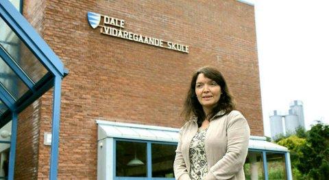 Rektor Gro Fivelsdal ved Dale vgs. i Sunnfjord melder om nye linjer ved skule.