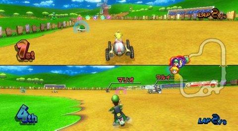 Grafikken er ikke all verden, men morofaktoren er usannsynlig høy i Mario Kart Wii. Opp til fire stykker kan spille på den samme tv-skjermen.
