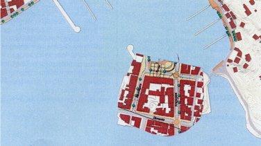 Lederen for organisasjonen Allgrønn, Erling Okkenhaug, har tatt en del av byplanen for Risør og plassert den på Holmen. Etter hans mening bør Holmen utvikles i samme skala og format som gamlebyen