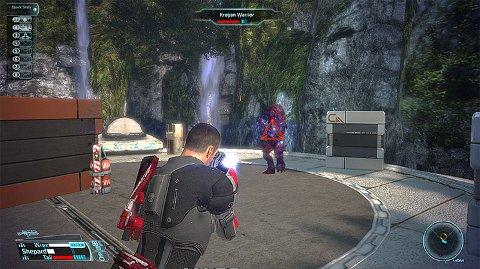 PC-versjonen av Mass Effect byr på like mykje action som på Xbox-360. Veteranar bør kanskje auke vanskelegheitsgrada for å få litt meir utfordringar med mus og tastatur.