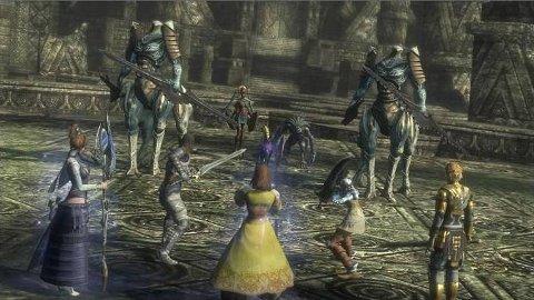 MANGE FIENDAR: Kampane i Lost Odyssey er meir dynamiske enn i mange andre RPG-spel, men spelet er framleis ganske roleg samanlikna med reindyrka kampspel som Devil May Cry 4 og det kommande Ninja Gaiden 2.