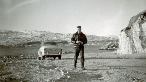 Steinbjørn Mentzoni på Mosjøveien i dens første år - for nærmere 50 år siden. Foto utlånt av Steinbjørn Mentzoni