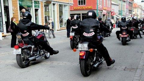 Bildet er fra en tidligere MC-parade i Tromsø.