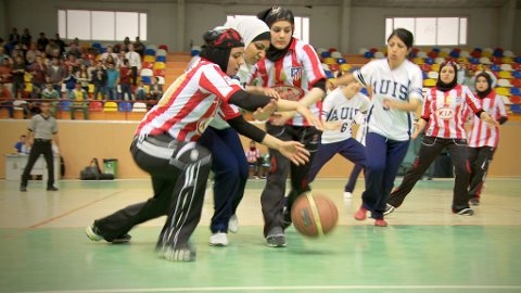 BASKETPROGRAM: Med blant annet dokumentaren Salaam Dunk om jenter som spiller basket i Irak.