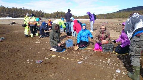 GRAVER: Skåbu ungdomsskole som arkeologer i Olstappen.