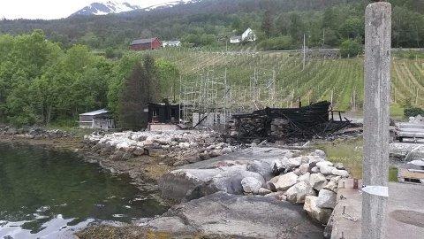 Dette huset som er under oppføring i Hardanger brant ned for andre gang i oktober.