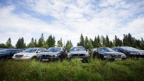 HAR IKKE SØKT: Lederen for Ullensaker kommunes byggesaksavdeling, Brit Johanne Søvde mener denne parkeringen er ulovlig fordi VIP Parkering Gardermoen ikke har søkt kommunen om tillatelse til å parkere biler her.