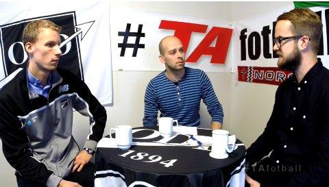 ODD-KEEPER: André Hansen i samtale med TA-journalistene Anders Hedeman og Ole Martin Møllerstad.