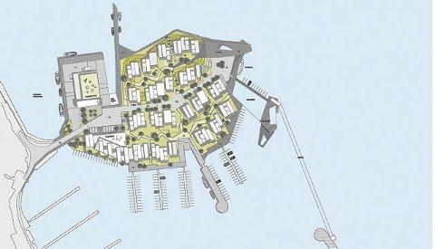 Oversiktsplansjen viser hvordan arkitektfirmaene Østengen og Bergo landskapsarkitekter samt Kritt Arkitekter ser for seg  utnyttelsen av Holmenarealet
