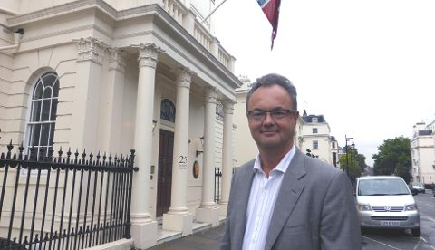 LONDON: Olav Myklebust fra Geithus har en spennende jobb i verdensmetropolen London.
