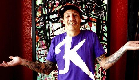 """Pål Tøien, bedre kjent som rapperen OnklP, er aktuell med platen """"Slekta"""" fra samarbeidsprosjektet OnklP & De Fjerne Slektningene.  Alle foto: Fredrik Grønningsæter"""
