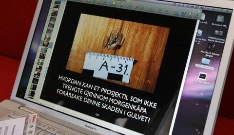 ULIKT ANTALL: Ifølge privatetterforsker Tore Sandberg oppgir politiet at de har funnet spor etter 13 skudd i Orderud-saken. Selv mener han å kunne bevise at det var minst 14 skudd.