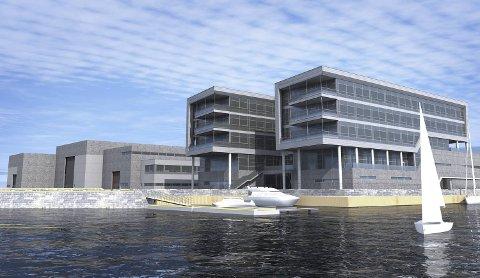 Framo Sjølivet, som prosjektet heter, får en bygningsmasse på totalt 23 700 kvadratmeter. Illustrasjon: B+B Arkitekter