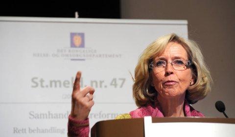 Helse- og omsorgsminister Anne-Grete Strøm-Erichsen.