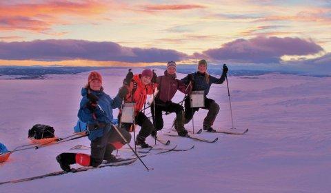 Treningsleir: Her er ekspedisjonsgjengen på samling i Valdres, fra venstre Marie Alsnes Brekkhus, Torunn Bugjerde, Randi Ødegården og Åslaug Hansegård. Foto: Privat