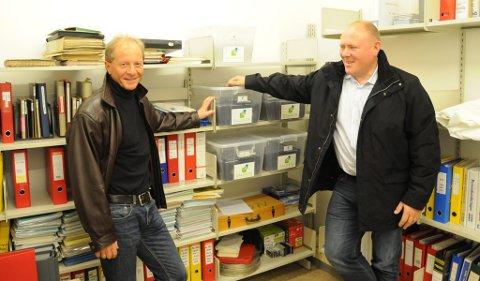 Tynset Arkiv AS vil jobbe hardt for å få både helsearkiv og sentralarkiv til Tynset. Geir Feragen og Geir Halmøy ser store muligheter.