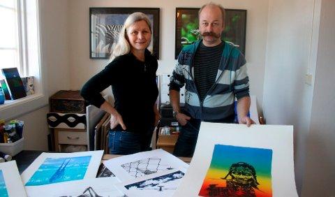 Ketil Storvik og Guri Ødegaard reiser med Norske Grafikers Verksted til Kina i påskeuka.