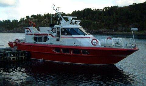 """MS """"STADT"""": Denne båten blir å sjå i chartertrafikk og i Flora og Bremanger i tida framover. Båten er ein av fire båtar i det nystarta reiarlaget Stadt Sjøtransport AS. Privat"""