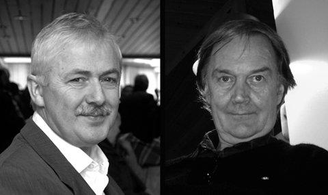 Lars Amund Vaage (t.v.) blir festspeldiktar ved Nynorske Festspel i Ørsta i juni. Per Olav Kaldestad og tre familiemedlemer har eit program med song, musikk og diktekunst. (Arkivfoto).