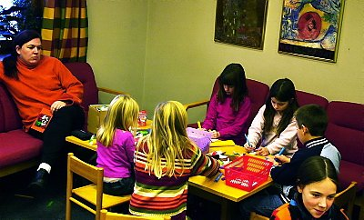Bokdag på biblioteket. Her fra barneavdelinga.  Foto:  Per Dietrichson