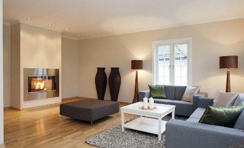 FØR VISNING: Husene styles før visning. Her overlates lite til tilfeldighetene. FOTO: AKTIV
