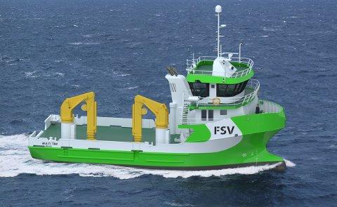 Vaagland Båtbyggeri skal levere nok et fartøy til FSV Group. Illustrasjon: Solstrand Trading