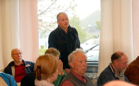 Bjørn Vollan talte varmt om fornybar energi som kan berge planeten.