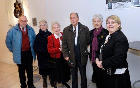 Heine og Randi Trollnes (til venstre), Torunn og Arne Seljevik, Anne-Marie Brynildsen og Bodil Wister gledet seg til Haldengallen.