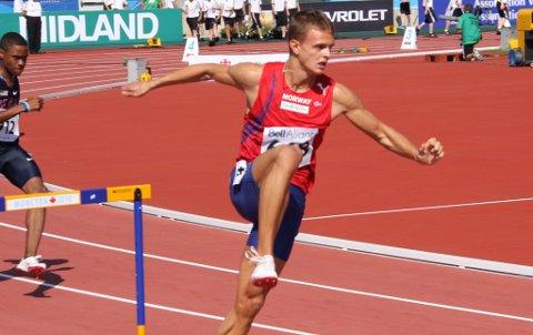 Øyvind Strømmen Kjerpeset sprang inn til ein tredjeplass i Zürich.