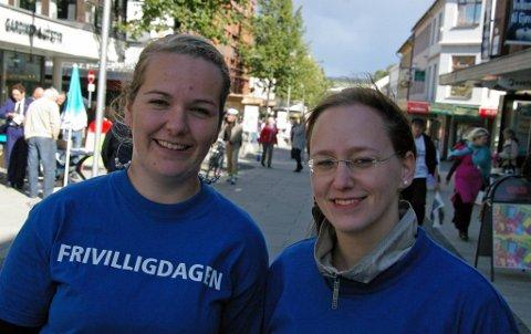 Kjersti Bolstad (t.v.) og Nora Gamst i JCI Gjøvik.