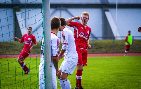 JUBLAR: Ruben Haugen er godt nøgd med nok eit NBK-mål.
