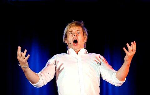Standup-komiker Roar Brekke fra Odda. Her fra et show i Visekjelleren i Bergen (19.09.08).