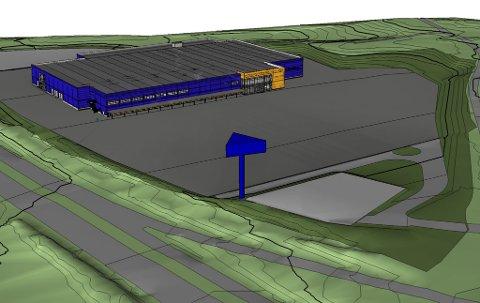 Planen er at Ikeas nye varehus skal stå ferdig til årsskiftet 2014-2015.