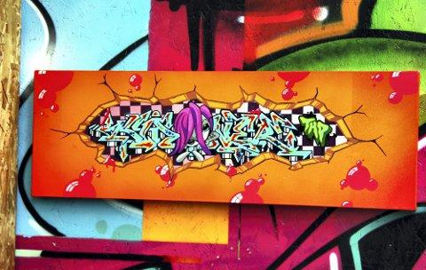 IØYENFALLENDE: Utstillingen er preget av sterke farger.