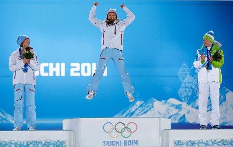 ÅRETS PRESTASJON: Maiken Caspersen Falla jublet etter OL-gullet i Sotsji. Med den prestasjonen er hun Årets idrettsutøver på Romerike etter et fantastisk 2014. ALLE FOTO: NTB SCANPIX