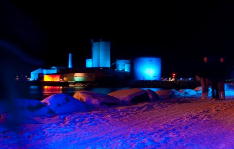 Det er klart for den fjerde internasjonale lysfesten på Neptun i Melbu havn. (Arkivfoto)