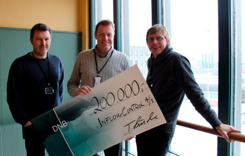 Haavard Aakre, Bjørnar Werswick og Vidar Mathiesen vant den regionale innovasjonsprisen til DNB. Nå skal de til landsfinalen i mars, og er med i konkurransen om én million kroner.