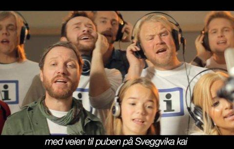 """Norske kjendiser synger """"Sammen For Skiltet""""."""
