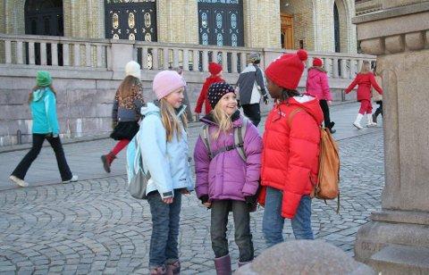 «Bestevenner» var den beste barnefilmen i 2009, mener norske kinosjefer. En scene fra filmen, fra venstre: Live Marie Runde, Regine Stokkevåg Eide og Johanna Ado Girirpio.