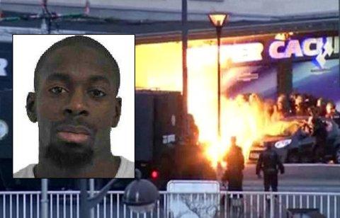 Her går en eksplosjon av idet spesialstyrker fra politiet går til aksjon mot kosherbutikken øst i Paris fredag ettermiddag. Amedy Coulibaly (innfelt) sa til en TV-kanal at terroraksjonen var koordinert sammen med brødrene Chérif (32) og Said (34) Kouachi.