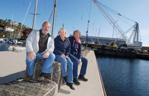 Tre av partiets fire bystyrerepresentanter (f.v.) Daniel Glaser, Kari Vibe og Knut H. Thygesen.