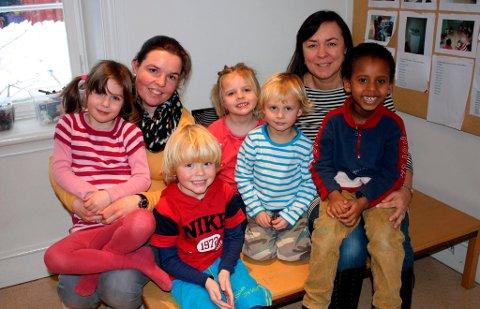Ishra hasvik (6), Linn Cecilie Thorsen, Henrik Evensen (4,5), Eira Nærum (4), Markus Bråthen Karell (4,5), Heidi Omdal og Zakariya Yusuf Musa (5) er eventyrlystne.