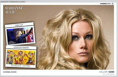 Slik presenterer maleren Marianne Aulie seg på sin egen nettside.