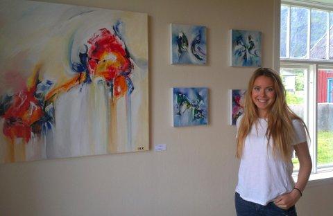 Isabelle Reilo Riis åpnet sitt nye galleri på Bekkhaugen på Å fredag