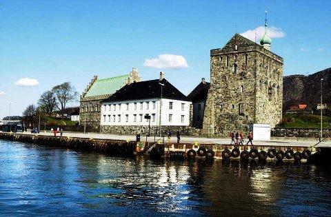 Håkonshallen og Rosenkrantztårnet.