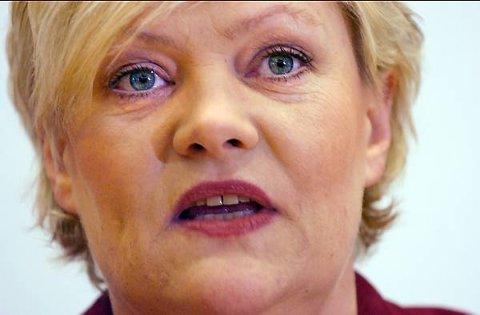 SV-leiar og finansminister Kristin Halvorsen er den som nyttar nynorsk aller minst i regjeringa.