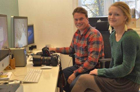 VINN-vinn: Christian Berset møtte Birgitte Marthinsen da de begge en tid jobbet sammen hos FotoKnudsen. Begge er fornøyd med lærlingkontrakten.